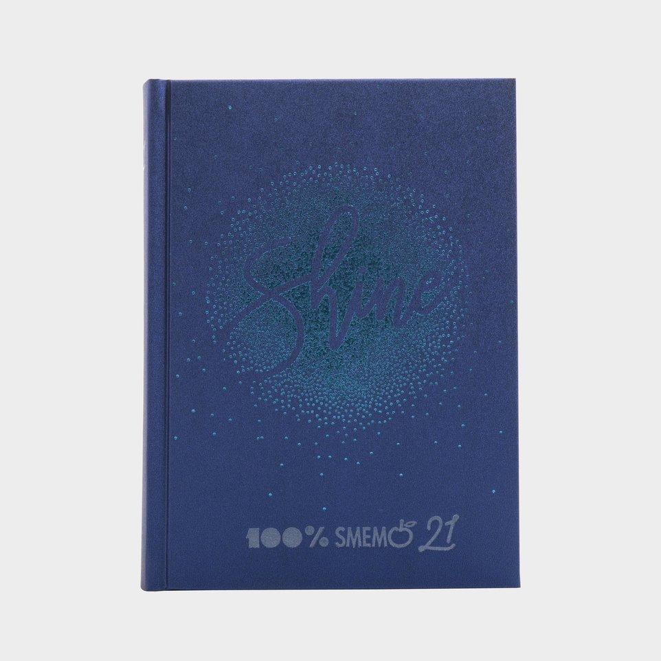 Smemoranda 16 Mesi 2021 Cm 13x17,7 Special Shine Logo Argento