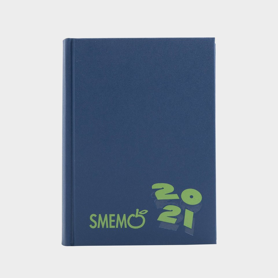 Smemo 16 Mesi 2021 Cm 11x15 Blu Logo Verde