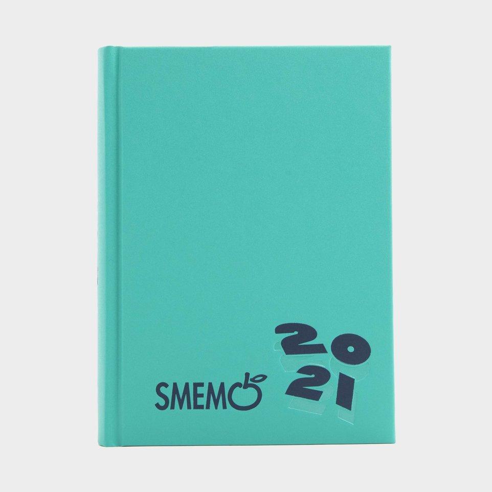Smemo 16 Mesi 2021 Cm 11x15 Verde Logo Blu