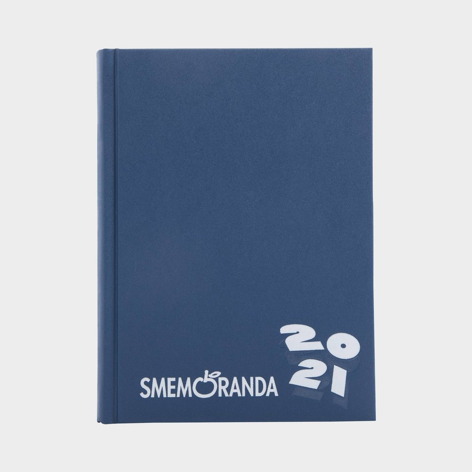 Smemoranda 16 Mesi 2021 Cm 13x17,7 Blu Logo Bianco