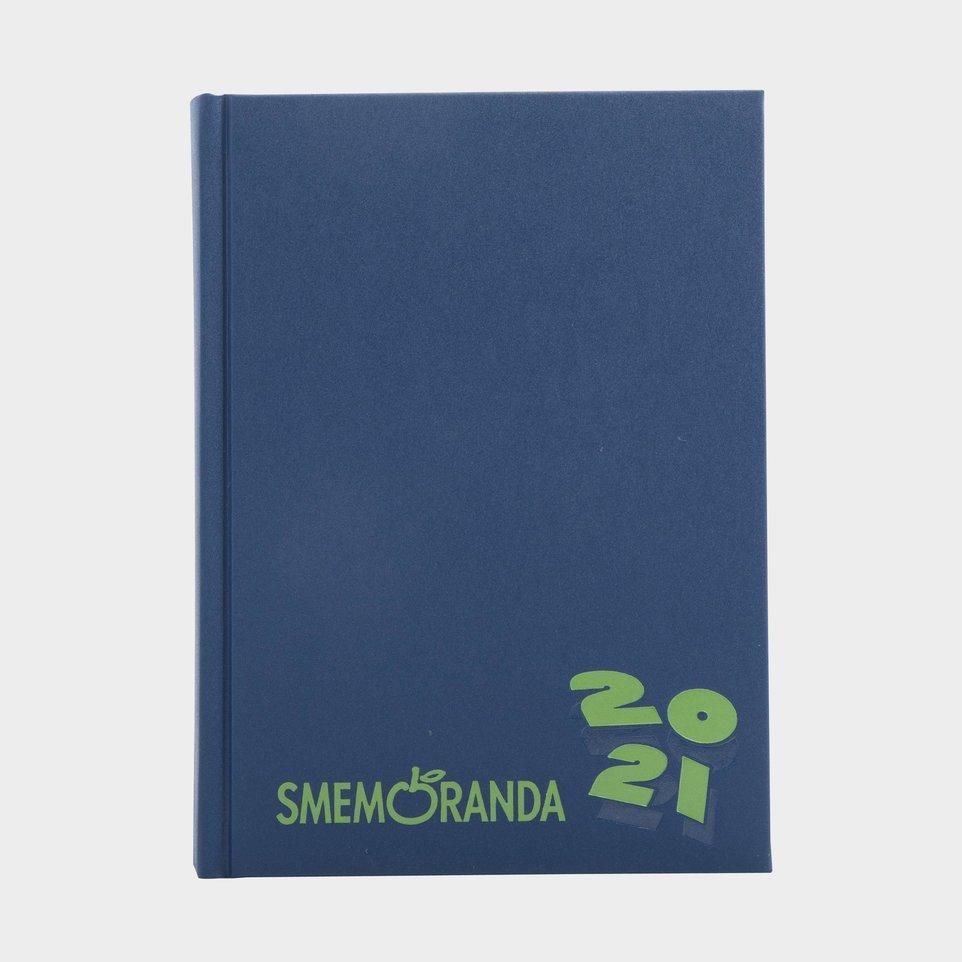 Smemoranda 16 Mesi 2021 Cm 13x17,7 Blu Logo Verde