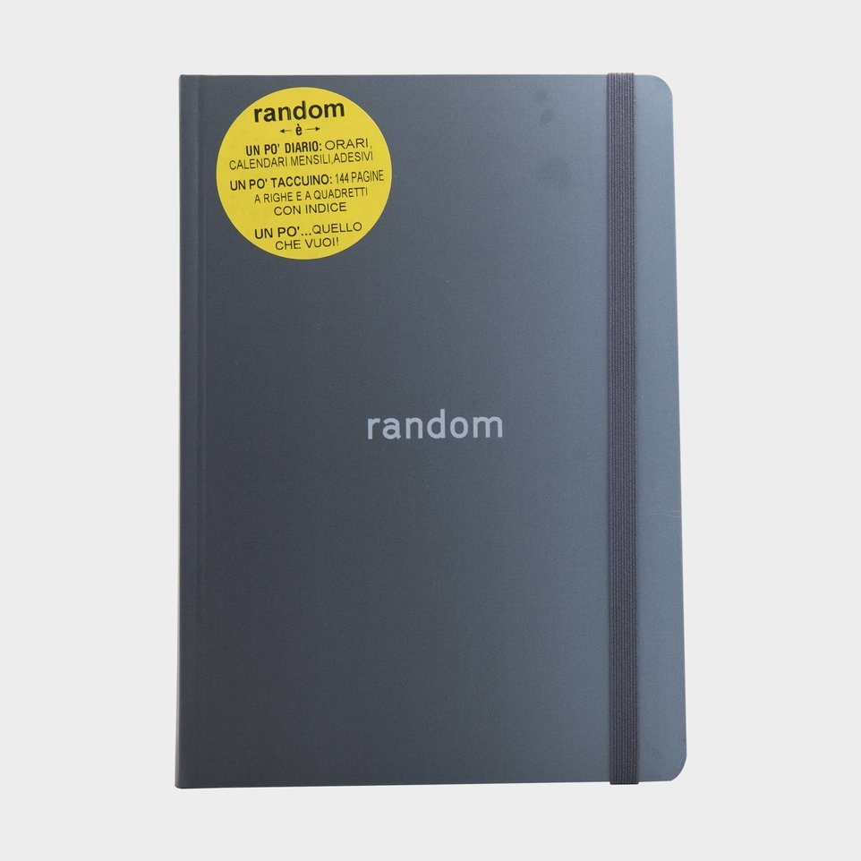 Random 2020-2021 Diario Taccuino Grigio