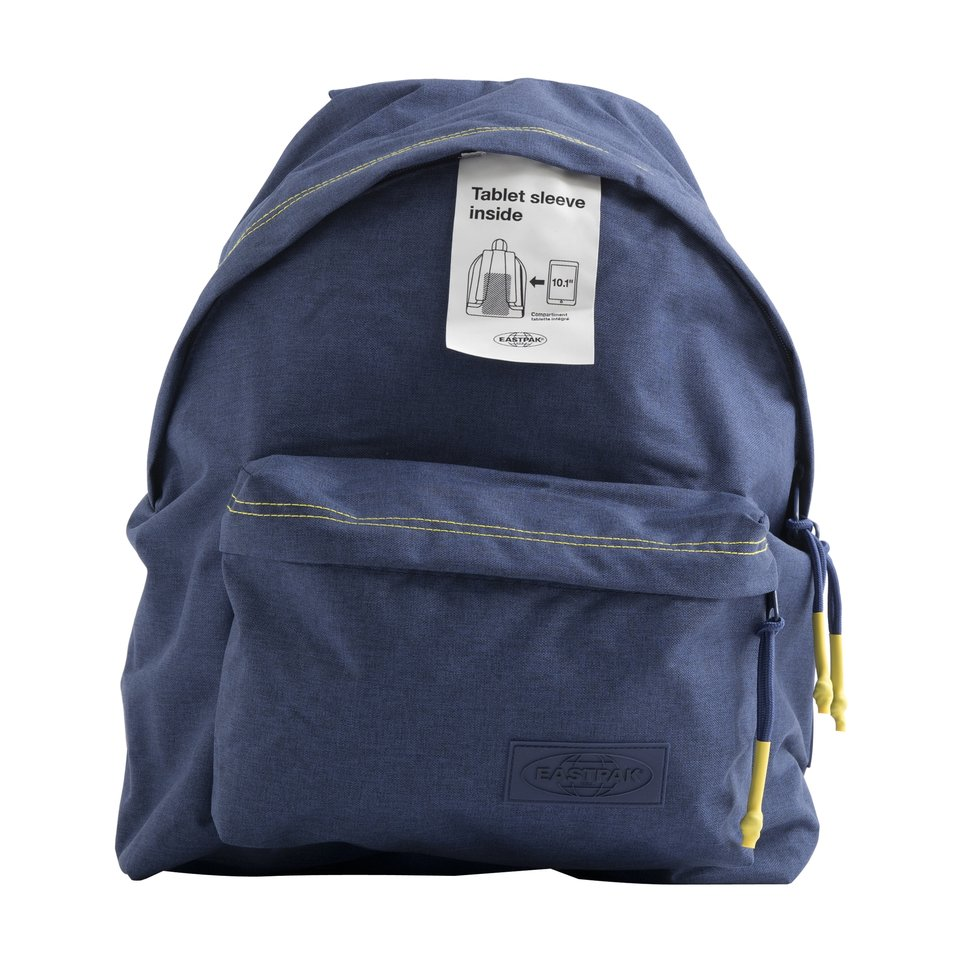 Zaino un comparto blu Smemo Eastpak con tasca interna porta pc/tablet