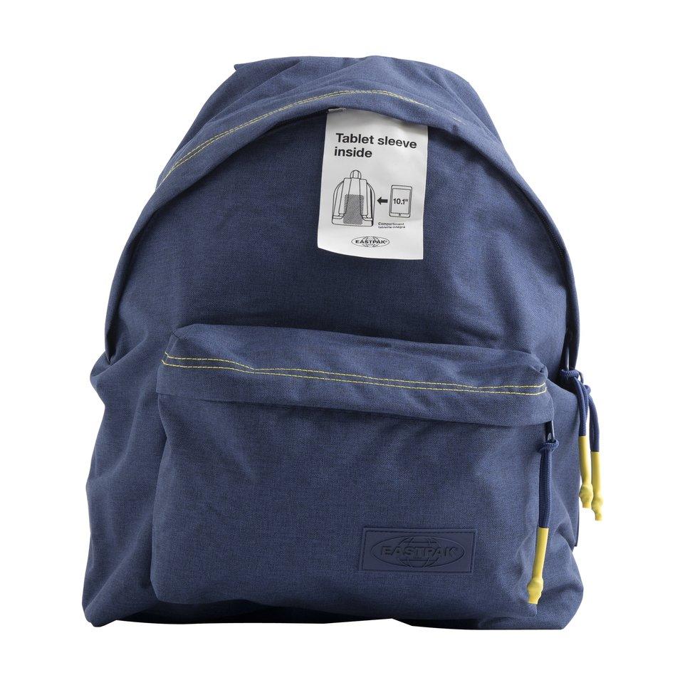 Zaino un comparto blu Smemo Eastpak con tasca interna porta pc/tablet