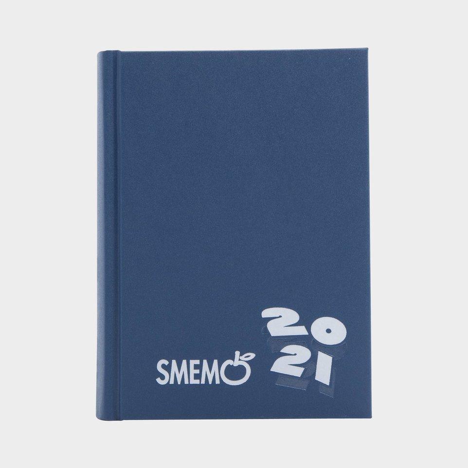 Smemo 16 Mesi 2021 Cm 10x13,6 Blu Logo Bianco