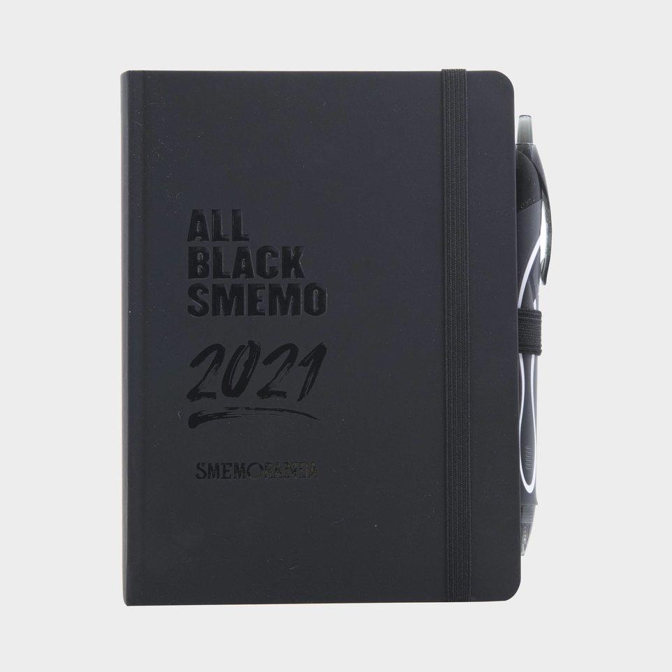 All Black Smemo 2021 12 Mesi Cm 12x16,5 - Giornaliera Nera