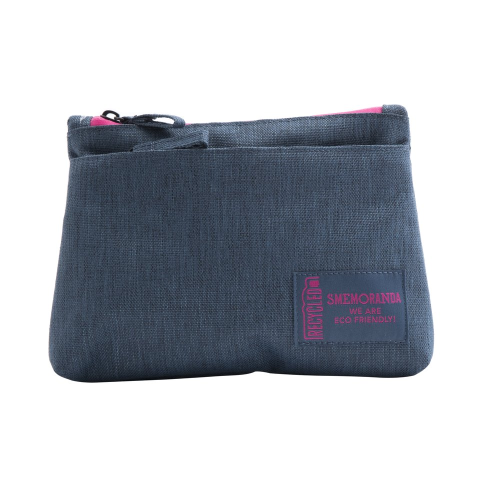 Beauty ECO flat blu con zip fucsia