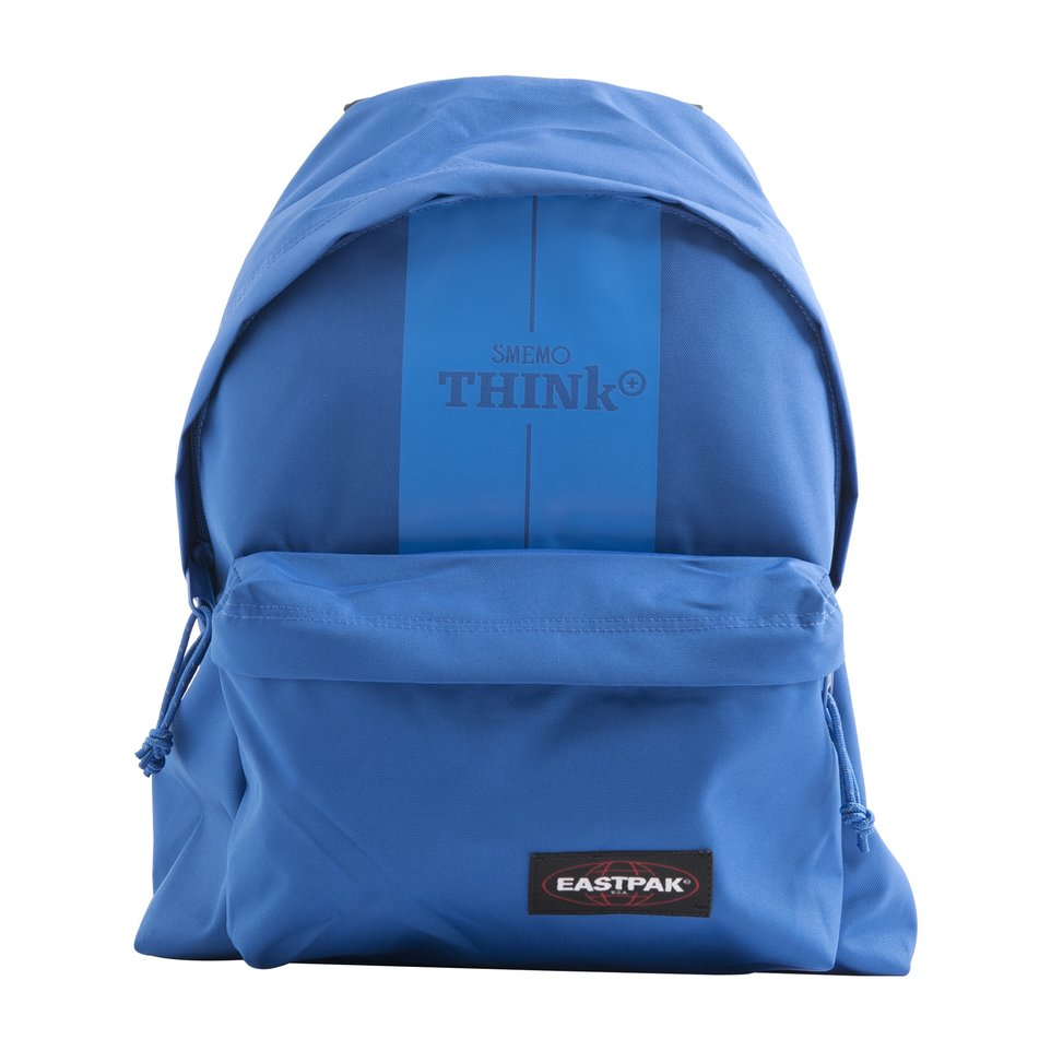 Zaino blu con tasca frontale e interna porta pc/ tablet Smemo Eastpak Padded Dok'R