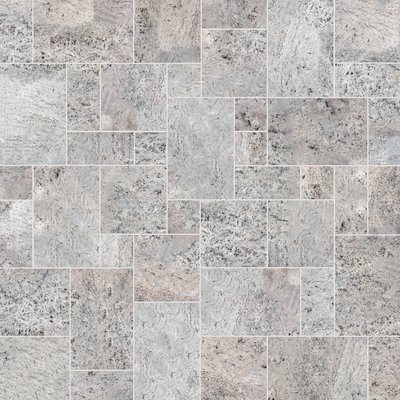 Pewter Sawn Natural Travertine Paving (Mixed Size Pack)