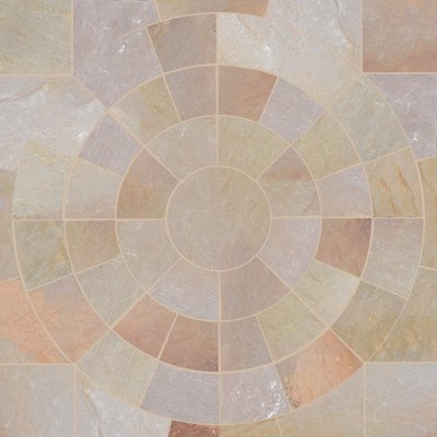 Autumn Gold Hand Cut Natural Sandstone Circles