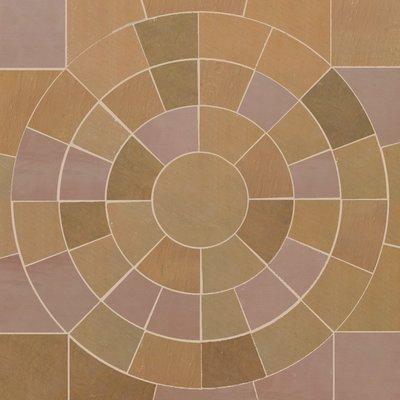 Modak Hand Cut Natural Sandstone Circles