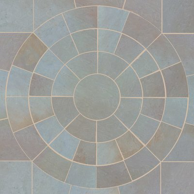 Raj Blend Hand Cut Natural Sandstone Circles