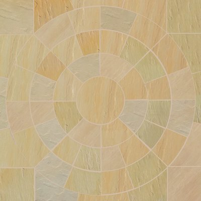 Mint Fossil Hand Cut Natural Sandstone Circles