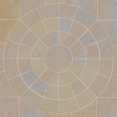 Buff Hand Cut Natural Sandstone Circles