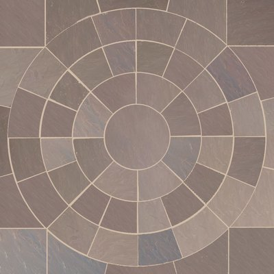 Autumn Brown Hand Cut Natural Sandstone Circles