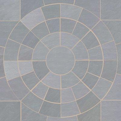 Kandala Grey Hand Cut Natural Sandstone Circles