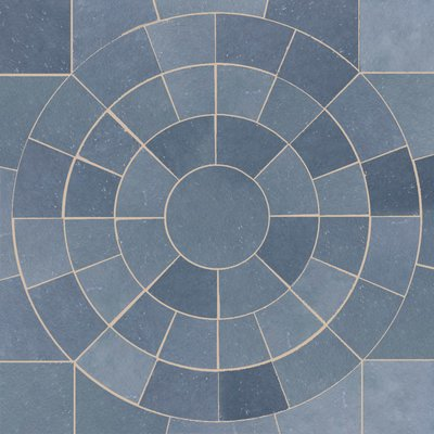 Kota Blue Hand Cut Natural Limestone Circles