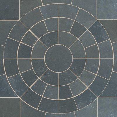 Kota Black Hand Cut Natural Limestone Circles