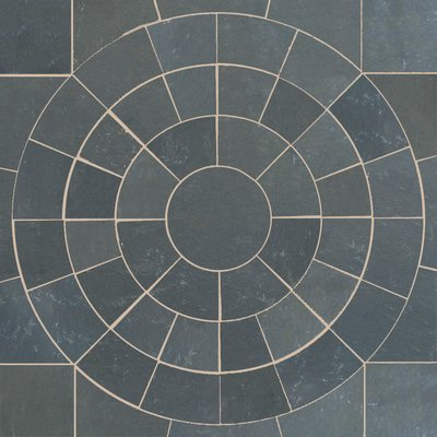 Kota Black Hand Cut Natural Limestone Circles