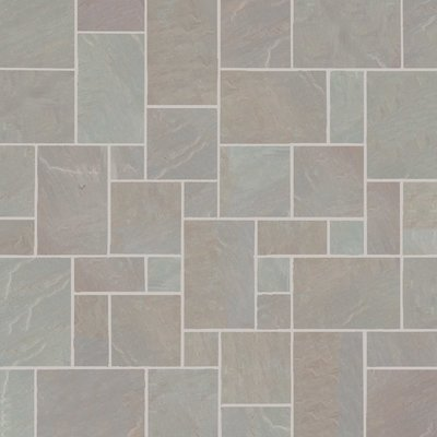 Raj Blend Hand Cut Natural Sandstone Paving (Mixed Size Packs)