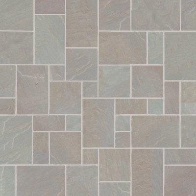 Raj Blend Hand Cut Natural Sandstone Paving (Mixed Size Packs)