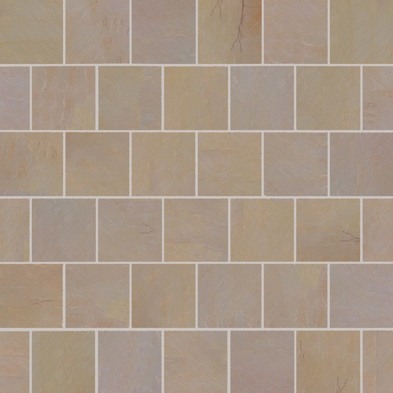Buff Hand Cut Natural Sandstone Paving (600x600 Packs) - Buff