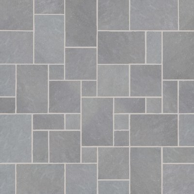 Kandala Grey Hand Cut Natural Sandstone Paving (Mixed Size Packs)