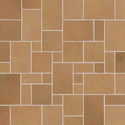 Modak Tumbled Natural Sandstone Paving (Mixed Size Packs)