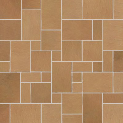 Modak Tumbled Natural Sandstone Paving (Mixed Size Packs)
