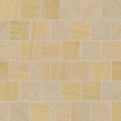 Mint Fossil Tumbled Natural Sandstone Paving (560x560 Packs)