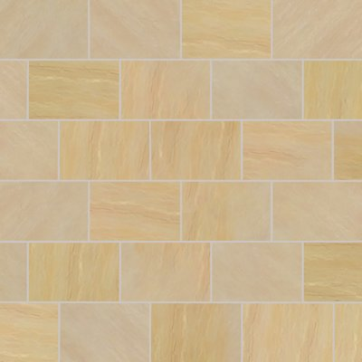 Mint Fossil Tumbled Natural Sandstone Paving (840x560 Packs)