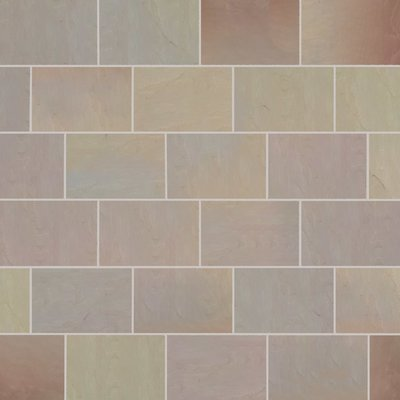 Autumn Gold Tumbled Natural Sandstone Paving (840x560 Packs)