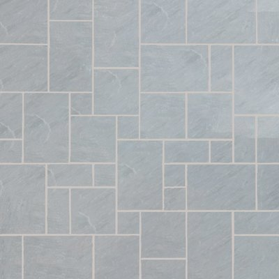 Kandala Grey Tumbled Natural Sandstone Paving (Mixed Size Packs)
