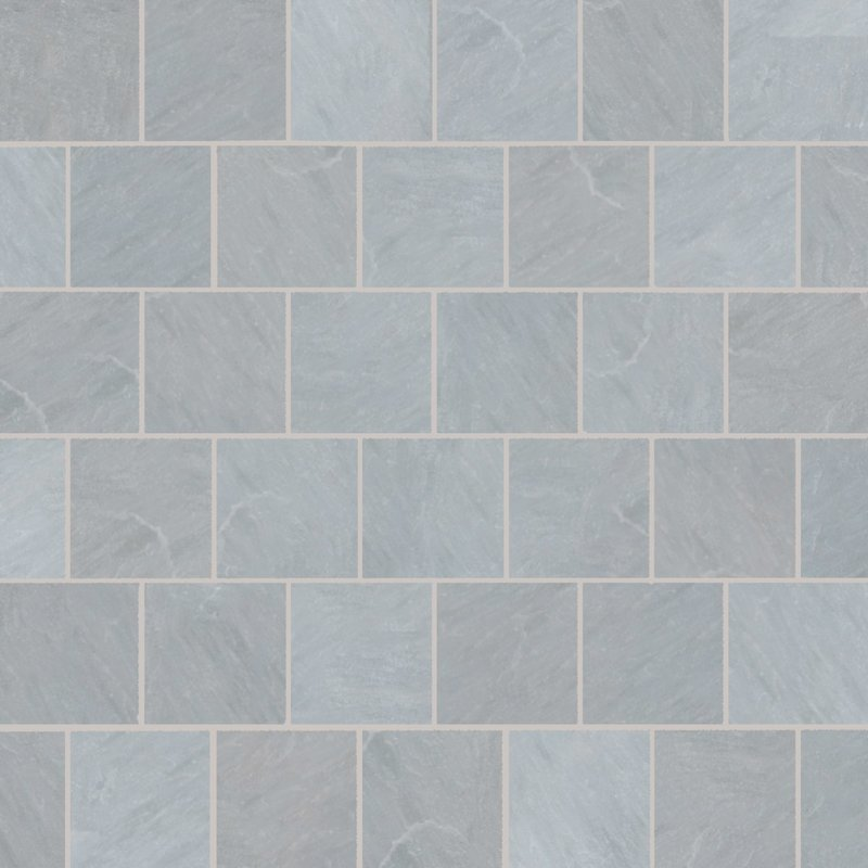 Kandala Grey Tumbled Natural Sandstone Paving (600x600 Packs) - Kandala Grey