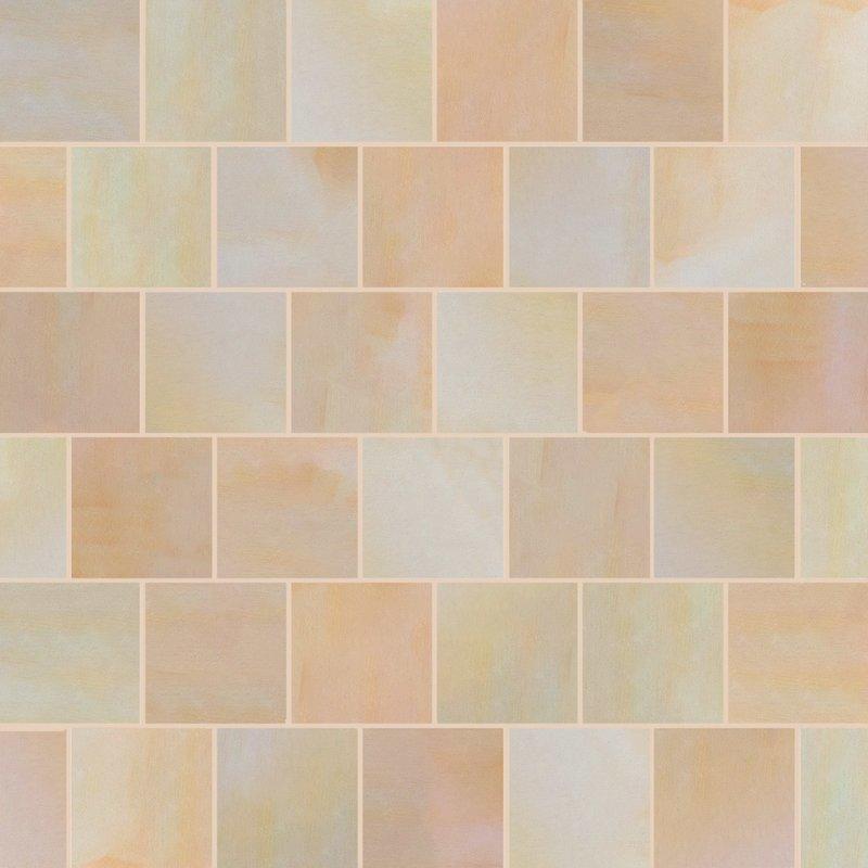 Buff Sawn Natural Sandstone Paving (600x600 Packs) - Buff
