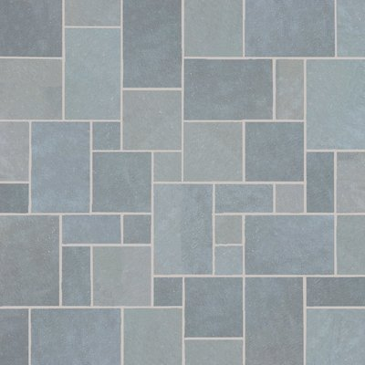 Kota Blue Hand Cut Natural Limestone Paving (Mixed Size Packs)