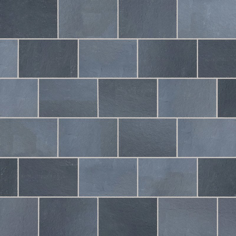 Kota Black Hand Cut Natural Limestone Paving (900x600 Packs) - Kota Black