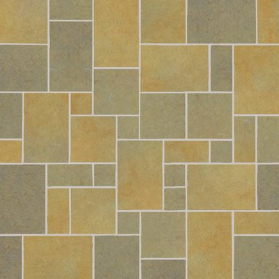 Kota Yellow Tumbled Natural Limestone Paving (Mixed Size Packs)