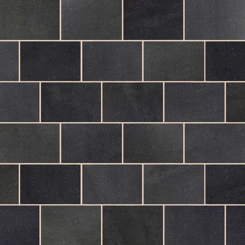 Emperor Black Sawn & Flamed Natural Granite Paving (900x600 Packs) - Emperor Black