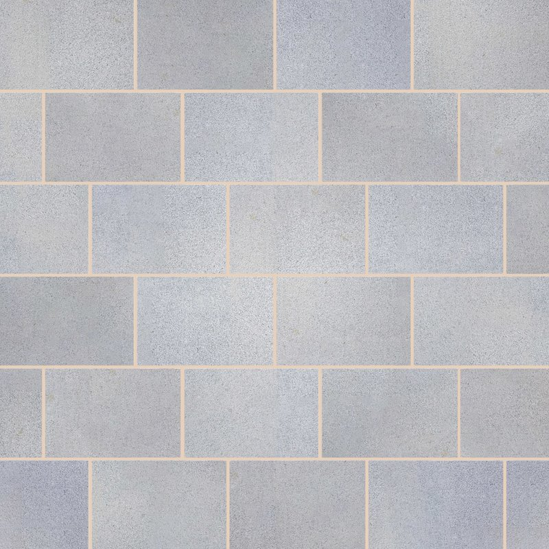 Light Grey Sawn & Flamed Natural Granite Paving (900x600 Packs) - Light Grey
