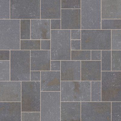Black Sawn Natural Basalt Paving (Mixed Size Packs)