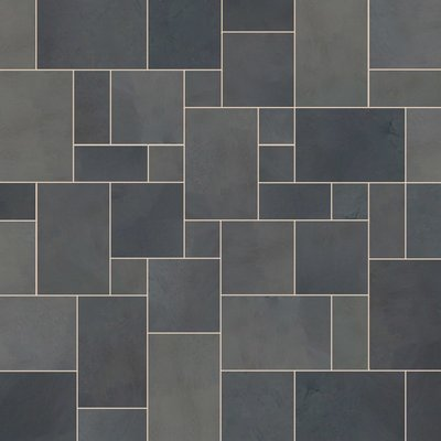 Brazilian Black Sawn Natural Slate Paving (Mixed Size Packs)