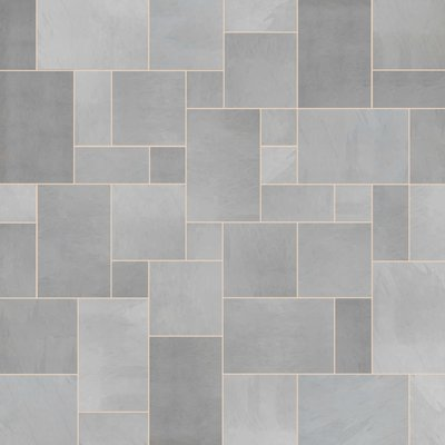 Brazilian Grey Sawn Natural Slate Paving (Mixed Size Packs)