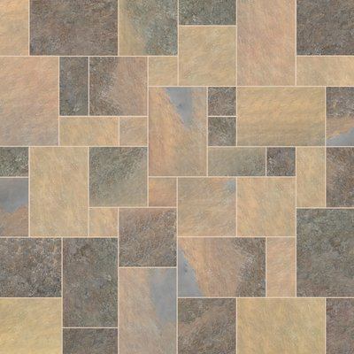 Indian Rusty Sawn Natural Slate Paving (Mixed Size Packs)