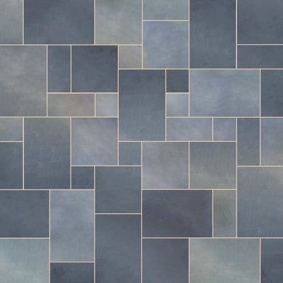Indian Black Sawn Natural Slate Paving (Mixed Size Packs)