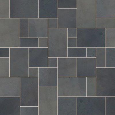 Brazilian Black Sawn Natural Slate Tiles (Mixed Size Packs)