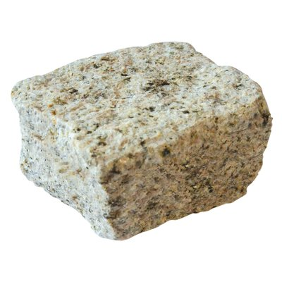 Yellow Cropped Natural Granite Cobbles (100x100x60 Size)