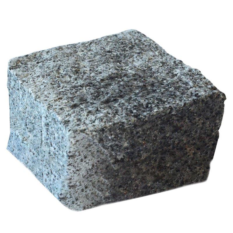 Dark Grey Cropped Natural Granite Cobbles (100x100x100 Size) - Dark Grey