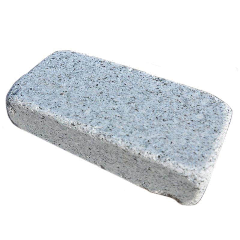 Light Grey Sawn, Honed & Tumbled Natural Granite Block Paviors (200x100 Size) - Light Grey