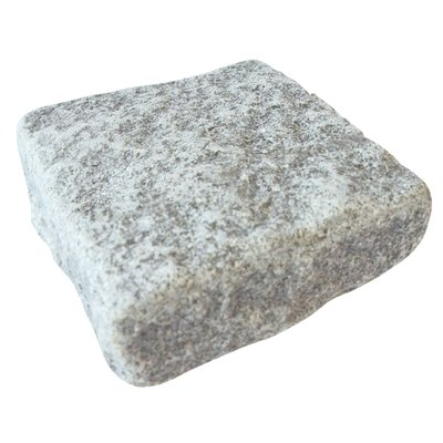 Light Grey Sawn, Riven & Tumbled Natural Granite Block Paving (140x140 Size)